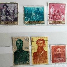 Sellos: ESPAÑA 1960, 6 SELLOS USADOS,. Lote 179235891