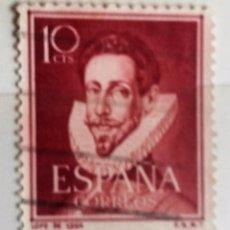 Sellos: ESPAÑA 1951, SELLO 10 CTS, LOPE DE VEGA USADO. Lote 179236186