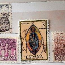 Sellos: ESPAÑA 1975, 4 SELLOS USADOS DIFERENTES. Lote 179239492