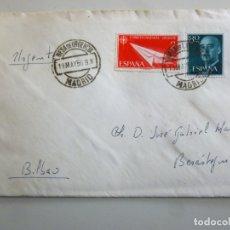 Sellos: LOTE DE 6 CARTAS CON SELLO Y MATASELLO AÑOS 1955 1956 Y 1960 MADRID VILLASANA DE MENA BURGOS. Lote 179516543