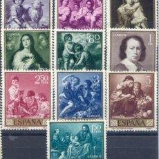 Sellos: 1960 EDIFIL 1270/79** NUEVOS SIN CHARNELA. MURILLO. Lote 180241701
