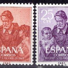 Sellos: 1960 EDIFIL 1296/978** NUEVOS SIN CHARNELA. SAN VICENTE PAUL. Lote 180242791