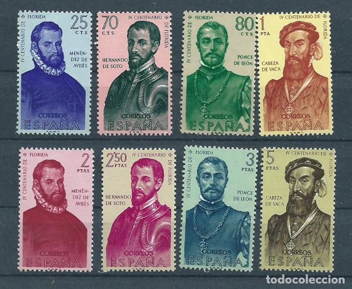 1960 EDIFIL 1298/1305** NUEVOS SIN CHARNELA. FORJADORES (Sellos - España - II Centenario De 1.950 a 1.975 - Nuevos)