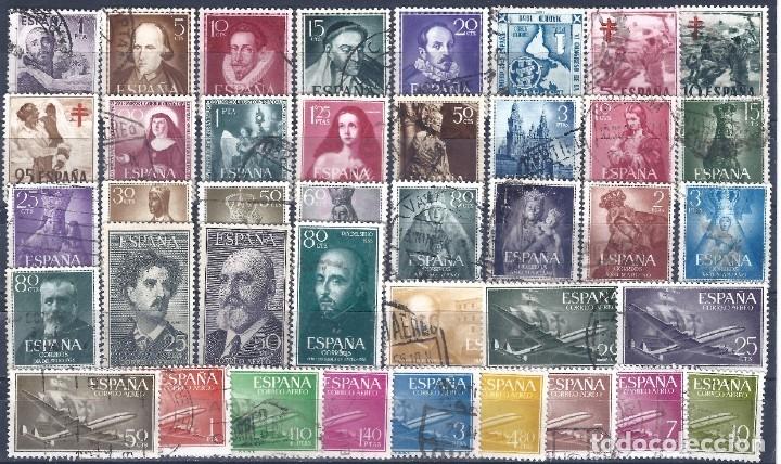 LOTE DE 35 SERIES COMPLETAS DEL II CENTENARIO ENTRE 1950 Y 1960. VALOR CATÁLOGO: 65 €. (Sellos - España - II Centenario De 1.950 a 1.975 - Usados)