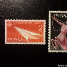 Sellos: ESPAÑA. EDIFIL 1185/6 SERIE COMPLETA NUEVA SIN CHARNELA. CORREO URGENTE. 1956.. Lote 180290570