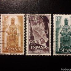 Sellos: ESPAÑA. EDIFIL 1192/4 SERIE COMPLETA USADA. AÑO JUBILAR DE MONTSERRAT 1956.. Lote 180290772