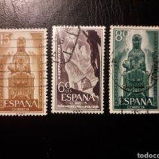 Sellos: ESPAÑA. EDIFIL 1192/4 SERIE COMPLETA USADA. AÑO JUBILAR DE MONTSERRAT 1956.. Lote 180290775