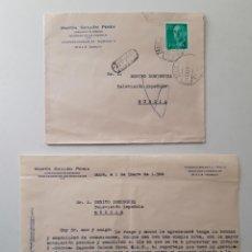Sellos: 1968 CARTA CON SOBRE Y SELLO MULA TVE MURCIA. Lote 180293306