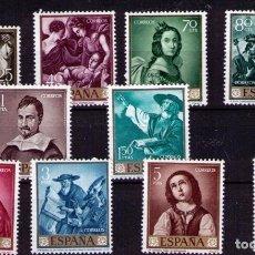 Sellos: SELLOS DE ESPAÑA AÑO 1962 PINTOR ZURBARÁN SELLOS NUEVOS. Lote 206576956