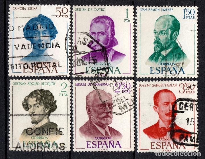 ESPAÑA 1990/95 - AÑO 1970 - LITERATURA - ESCRITORES ESPAÑOLES (Sellos - España - II Centenario De 1.950 a 1.975 - Usados)