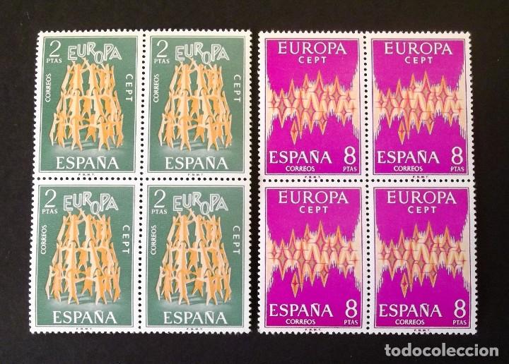 2090-1, VEINTICUATRO SERIES NUEVAS, SIN CH., EN DOCE BLOQUES DE CUATRO, FOTO GENÉRICA. EUROPA-CEPT. (Sellos - España - II Centenario De 1.950 a 1.975 - Nuevos)