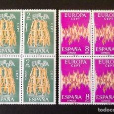 Sellos: 2090-1, VEINTICUATRO SERIES NUEVAS, SIN CH., EN DOCE BLOQUES DE CUATRO, FOTO GENÉRICA. EUROPA-CEPT.. Lote 181166333