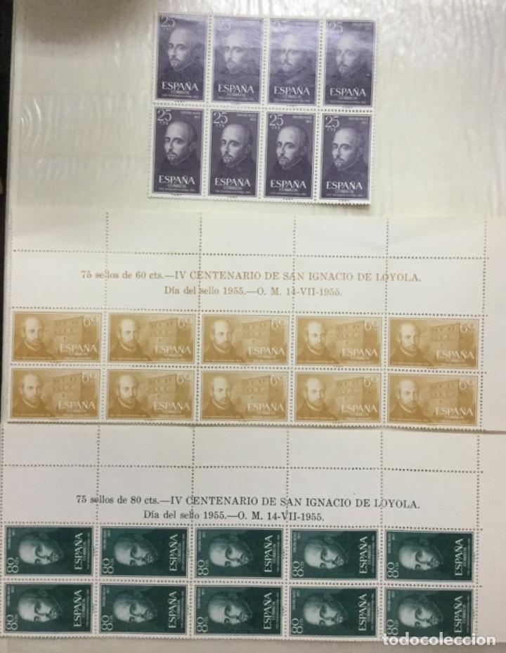 ESPAÑA SERIE COMPLETA EDIFIL 1166/1168 - NUEVOS CON GOMA Y SIN FIJASELLOS - BLOQUES DE 10 Y 8 (Sellos - España - II Centenario De 1.950 a 1.975 - Nuevos)