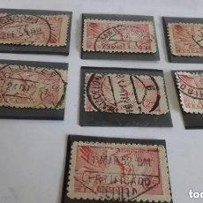 Sellos: 7 SELLOS DE 25 CENTIMOS / PEGASO / TIMBRADOS EN 7 CIUDADES DISTINTAS. Lote 181730708