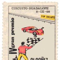 Sellos: S8 VIÑETA IV GRAN PREMIO CIRCUITO GUADALOPE-ALCAÑIZ-TERUEL - 8 DE SETIEMBRE 1968. Lote 182050653