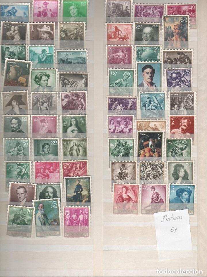 ESPAÑA-CONJUNTO DE 57 SELLOS DISTINTOS DE PINTORES NUEVOS SIN FIJASELLOS (SEGÚN FOTO) (Sellos - España - II Centenario De 1.950 a 1.975 - Nuevos)
