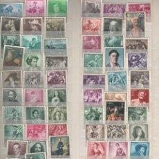 Sellos: ESPAÑA-CONJUNTO DE 57 SELLOS DISTINTOS DE PINTORES NUEVOS SIN FIJASELLOS (SEGÚN FOTO). Lote 182499128