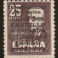 Sellos: ESPAÑA EDIFIL 1083** MNH 10 CTOS.SOBRE 25 PTS VIAJE CANARIAS CERTIFICADO NL988. Lote 182571987