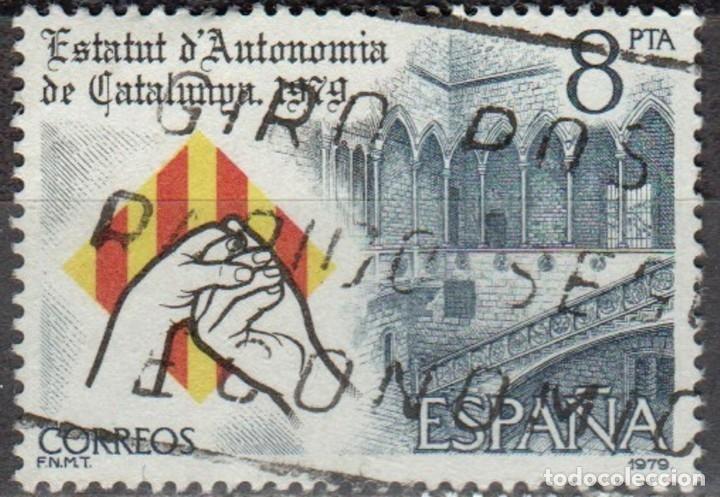 ESPAÑA - UN SELLO - EDIFIL:#2546 - **PROCLAMACION ESTATUTO DE CATALUÑA** - AÑO 1979 - USADO (Sellos - España - II Centenario De 1.950 a 1.975 - Usados)