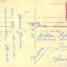 Sellos: ESPAÑA. 2º CENTENARIO CORREO AÉREO. SOBRE 1089. 1957. 10 CTS. + 1 PTS. ROSA. STA. CRUZ DE TENERIFE. Lote 183105877