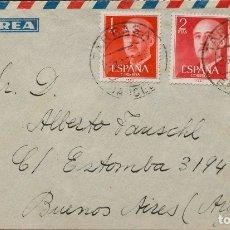 Sellos: ESPAÑA. 2º CENTENARIO ANTERIOR A 1960. SOBRE 1157(2), 1153. 1956. 2 PTS ROJO, DOS SELLOS Y 1 PTS NA. Lote 183151357