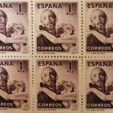 Sellos: BLOQUE DE 6 SELLOS SAN JUAN DE DIOS. 2 PESETAS, ED-1070. NUEVO. Lote 183386876