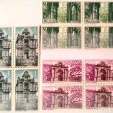 Sellos: EDIFIL 1761/63** BLOQUE DE 4 CARTUJA DE SANTA MARIA DE LA DEFENSION. Lote 183511401