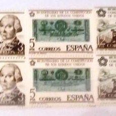Sellos: EDIFIL 2322/25** BLOQUE DE 4 - BICENTENARIO DE LA INDEPENDENCIA DE LOS ESTADOS UNIDOS. Lote 183513910