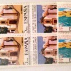 Sellos: EDIFIL 2477/79** BLOQUE DE 4 - V CENTENARIO DE LA FUNDACION DE LAS PALMAS DE GRAN CANARIAS. Lote 183515425