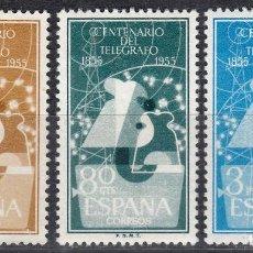 Sellos: 1955 EDIFIL 1180/82* NUEVOS CON CHARNELA. TELÉGRAFO (1019). Lote 183556838