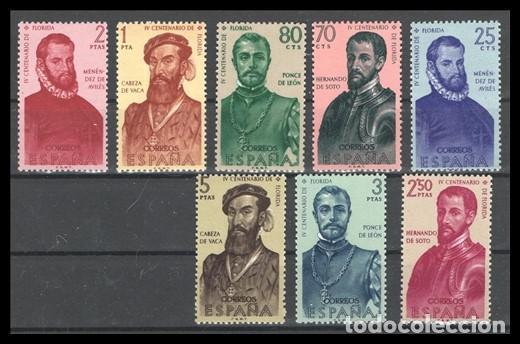 SELLOS, FORJADORES DE AMERICA 1960 SERIE COMPLETA 1298/1305 NUEVA. (Sellos - España - II Centenario De 1.950 a 1.975 - Nuevos)