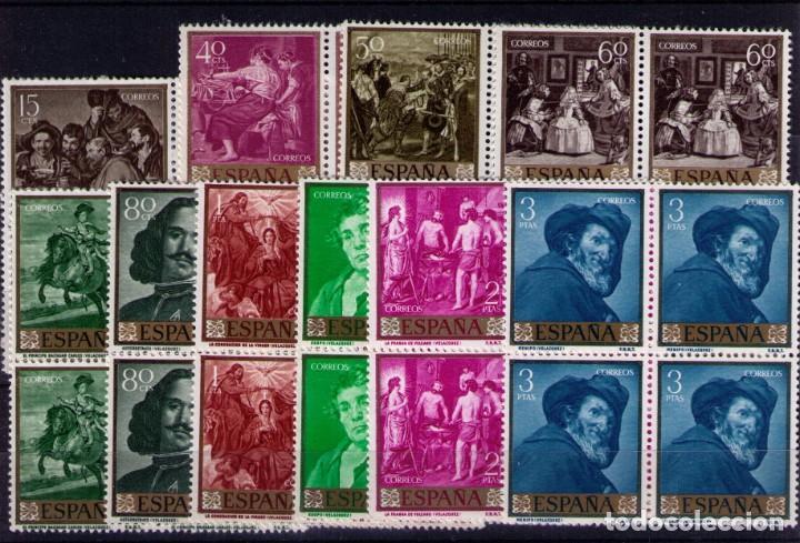 SELLOS DE ESPAÑA AÑO 1959 PINTOR VELÁZQUEZ SELLOS NUEVOS** EN BLOQUE DE 4 (Sellos - España - II Centenario De 1.950 a 1.975 - Nuevos)