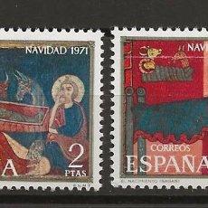 Sellos: R35/ ESPAÑA 1971, EDIFIL 2061/62 MNH** NAVIDAD. Lote 184602463