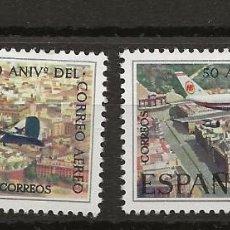 Sellos: R35/ ESPAÑA 1971, EDIFIL 2059/60 MNH**, L ANIVERSARIO DEL CORREO AEREO. Lote 184709180