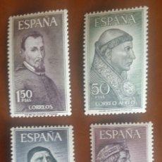 Sellos: ESPAÑA 1963. PERSONAJES. EDIFIL 1536/9 . Lote 184826967