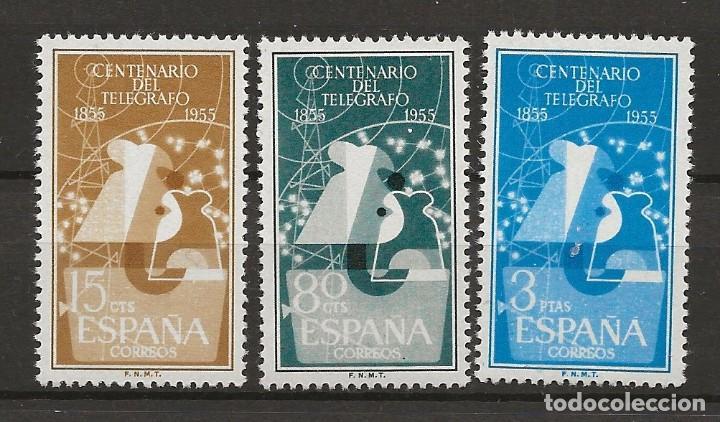 R35.G11/ ESPAÑA 1955, EDIFIL 1180/82 MNH**, I Cº DEL TELEGRAFO, CATALOGO 2020 = 28,00 € (Sellos - España - II Centenario De 1.950 a 1.975 - Nuevos)
