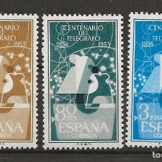 Sellos: R35.G11/ ESPAÑA 1955, EDIFIL 1180/82 MNH**, I Cº DEL TELEGRAFO, CATALOGO 2020 = 28,00 €. Lote 184932232