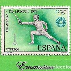 Sellos: EDIFIL 2098. XX JUEGOS OLÍMPICOS EN MUNICH - ESGRIMA. (1972).** NUEVO SIN FIJASELLOS.. Lote 185999978
