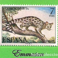 Sellos: EDIFIL 2106. FAUNA HISPÁNICA - GINETA. (1972).** NUEVO SIN FIJASELLOS.. Lote 186004871