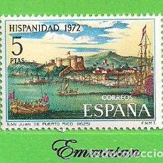 Sellos: EDIFIL 2109. HISPANIDAD. PUERTO RICO - SAN JUAN DE PUERTO RICO. (1972).** NUEVO SIN FIJASELLOS.. Lote 186006626