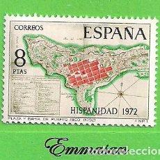 Sellos: EDIFIL 2110. HISPANIDAD. PUERTO RICO - PLANO DE LA PLAZA DE SAN JUAN. (1972).** NUEVO SIN FIJASELLOS. Lote 186007046
