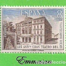 Sellos: EDIFIL 2114. ANIVERSARIO DEL GRAN TEATRO DEL LICEO. (1972).** NUEVO SIN FIJASELLOS.. Lote 186009458