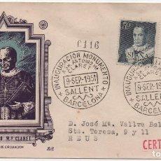 Sellos: SOBRE ILUSTRADO, CERTIFICADO. ANTONIO M. CLARET. Lote 186274973