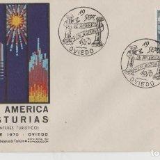 Sellos: LOTE A SOBRE MATA SELLOS DIA DE AMERICA EN ASTURIAS OVIEDO . Lote 187198973