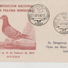 Sellos: LOTE A SOBRE MATA SELLOS EXPOSICION PALOMA MENSAJERAASTURIAS OVIEDO . Lote 187199041