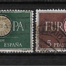Sellos: ESPAÑA 1960 EDIFIL 1294/1295 USADO - 3/5. Lote 187533973