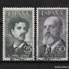 Sellos: ESPAÑA 1956 EDIFIL 1164/1165 USADO - 3/5. Lote 187534367