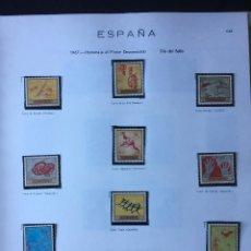 Sellos: SELLOS ESPAÑA NUEVOS AÑOS 1967, DEL 1767 AL 1838 EDIFIL, EN HOJAS DE ALBUM FIVA. Lote 187586136