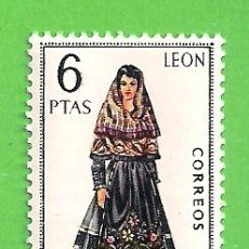 Selos: EDIFIL 1900. TRAJES TÍPICOS ESPAÑOLES - LEÓN. (1969).** NUEVO SIN FIJASELLOS.. Lote 188483990
