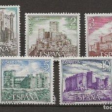 Sellos: TV_003 / ESPAÑA 1972, EDIFIL 2093/97 MNH**, CASTILLOS DE ESPAÑA. Lote 237514415